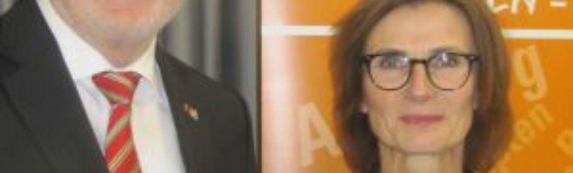 MdB Dr. h. c. Hans Michelbach und LSWB-Vorstandsmitglied Sabine Kastner.